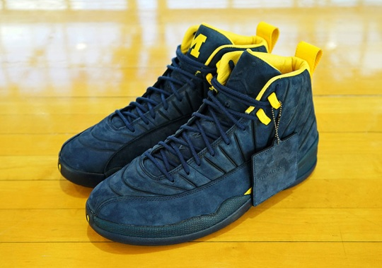 "79dd6b4cbb2 The PSNY x Air Jordan 12 ""Michigan"" Is Rumored To Release This Summer"