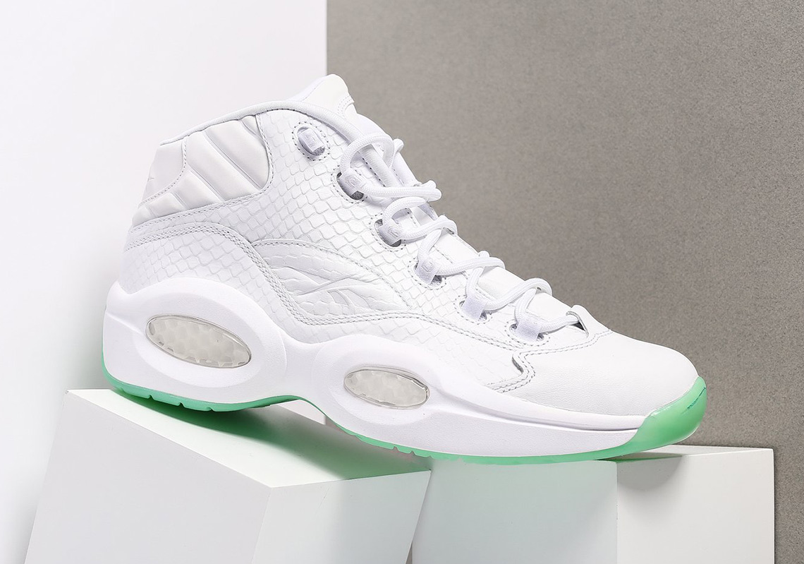The Reebok Question Pairs Snakeskin With Mint Soles 5124a173e