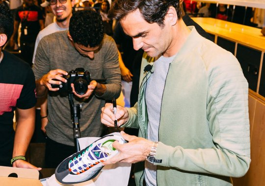 "Roger Federer Celebrates Launch Of ""Greedy"" Vapor RF At Nike Miami"