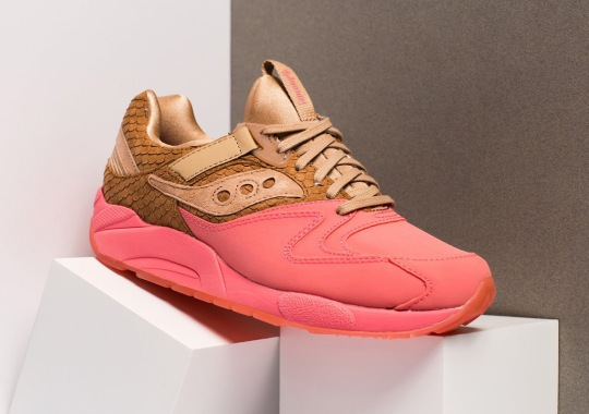 Saucony Adds Suede Fishscales To The Grid 9000