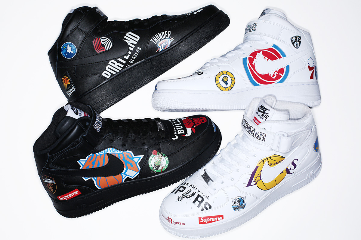 huge discount 2dfb2 736b0 Supreme x NBA x Nike Air Force 1 + Apparel Collection