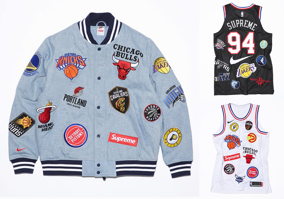 super popular 697f2 ed505 The Supreme x Nike x NBA Apparel Collection Releases Tomorrow On NikeLab