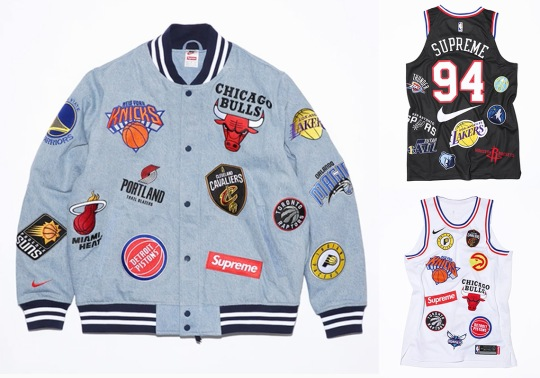 The Supreme x Nike x NBA Apparel Collection Releases Tomorrow On NikeLab