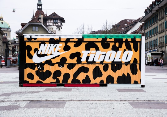 "Titolo Drops A Massive Custom Shipping Container In The Streets For Their Nike ""Animal Pack 2.0"" Release"