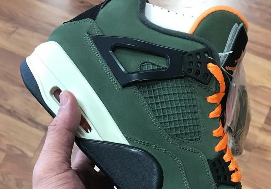 An UNDEFEATED x Air Jordan 4 Sample Surfaces