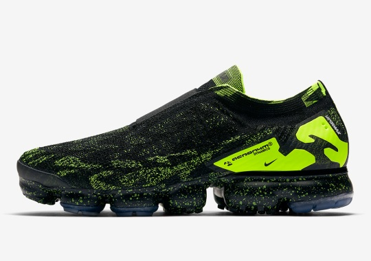 ACRONYM x Nike Vapormax In Black/Volt Releases On April 26th
