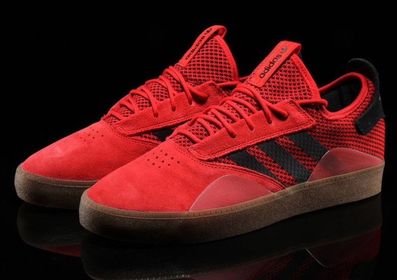 new style 5a51a bc2b9 The adidas Skateboarding 3ST.001 Releases In Scarlett Red