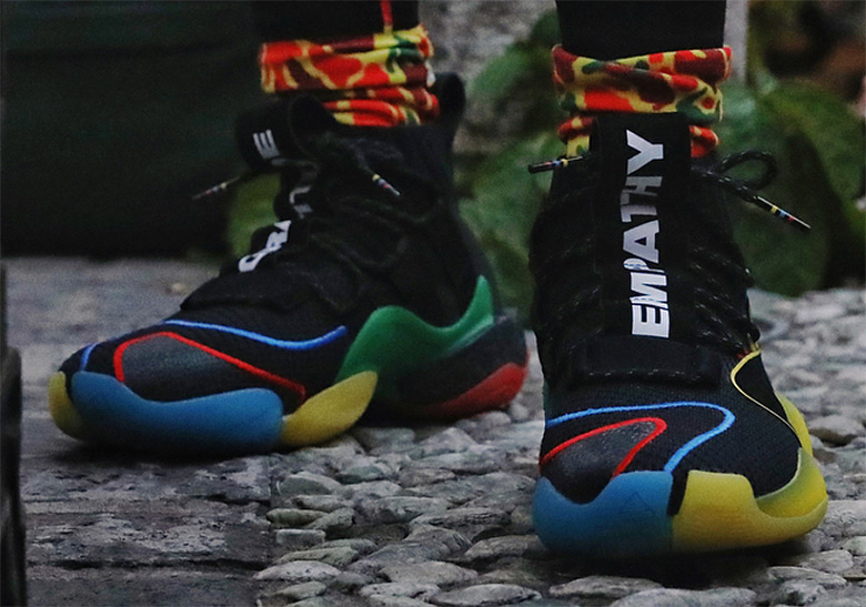 """697dc6e13 Pharrell Debuts New adidas Crazy BYW X """"Gratitude Empathy"""" In China"""