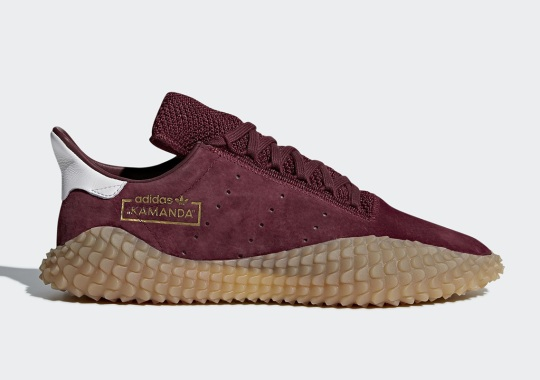 First Look At The adidas Kamanda In Burgundy And Gum