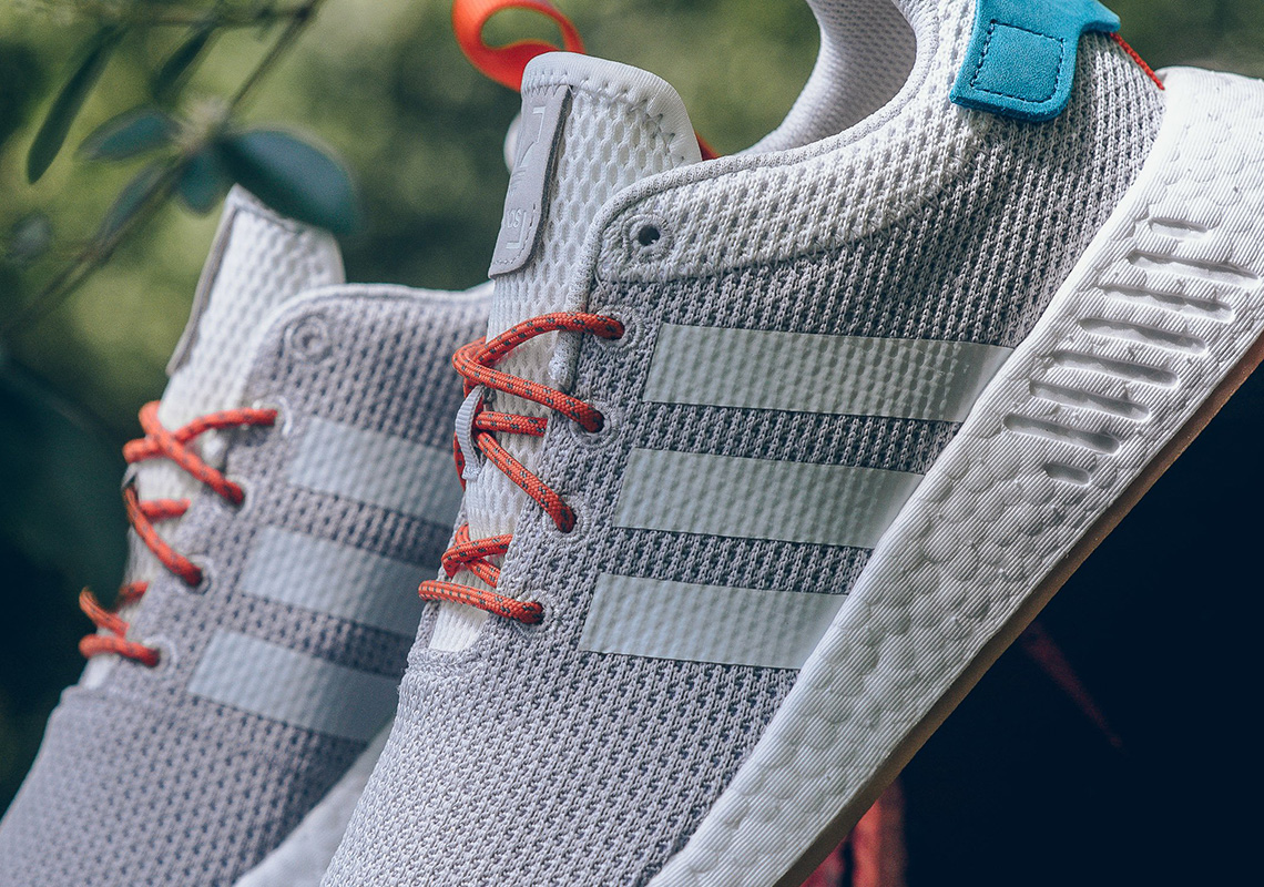 8e5bcc85c adidas NMD R2  130. Color  Crystal White Orange Green Style Code  CQ3080