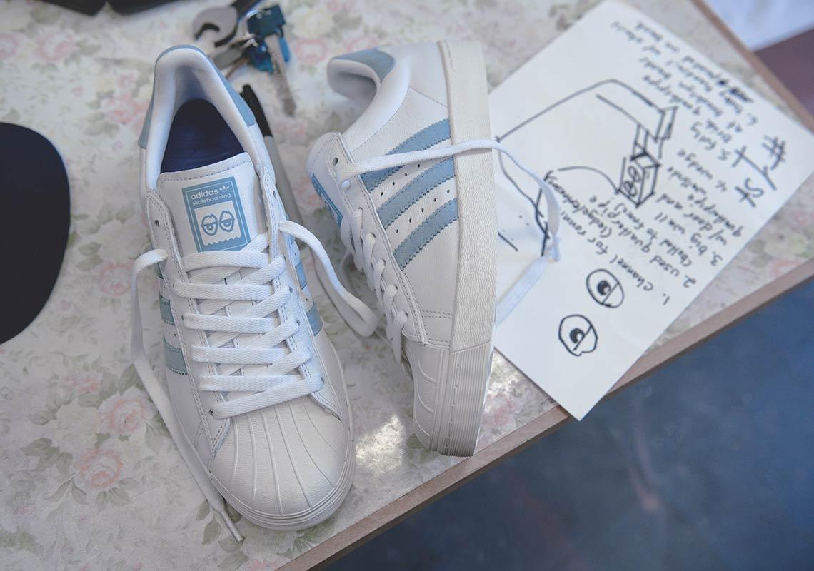 3d5338a4 Krooked x adidas Skateboarding Superstar Vulc Release Date: April 21, ...