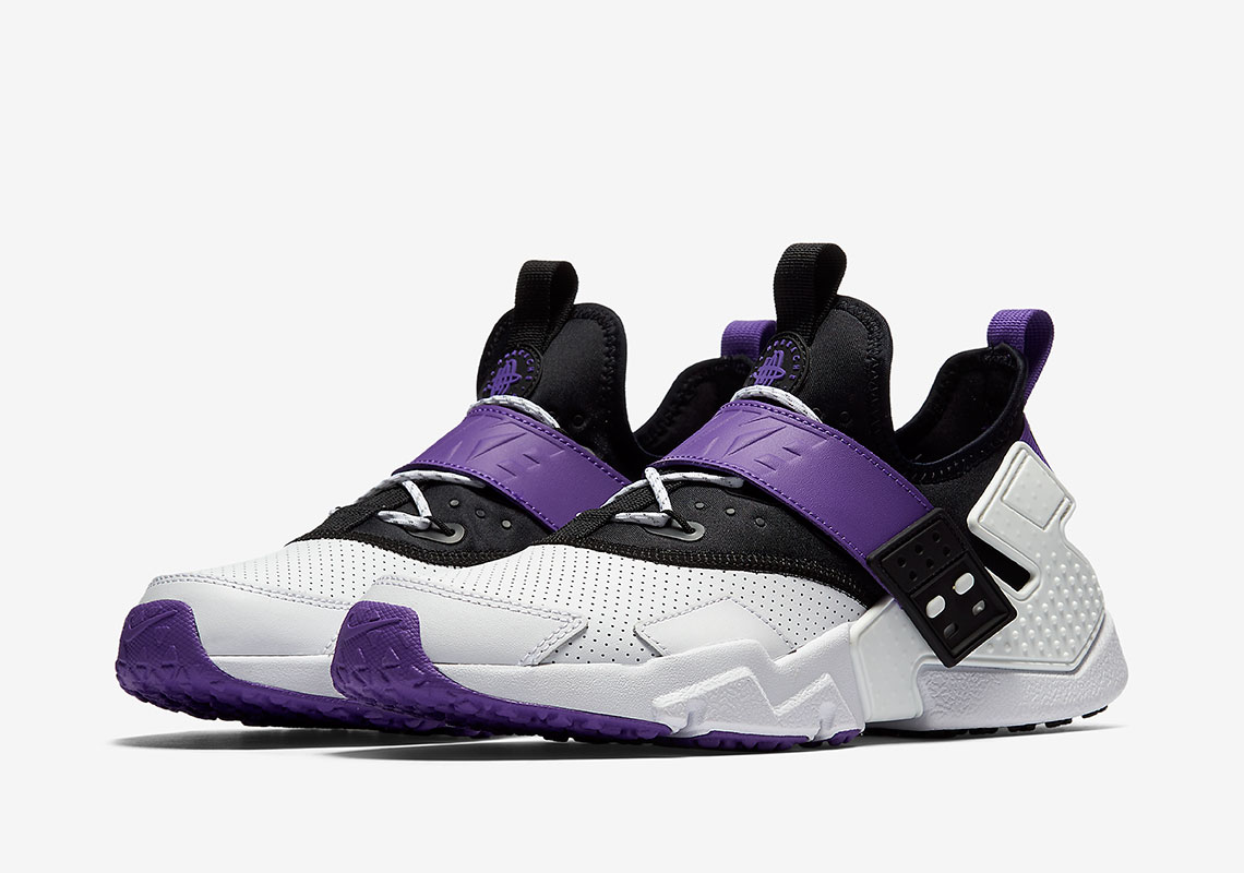 Nike Air Huarache Drift AVAILABLE AT Nike  140. Color  White Black Hyper  Grape 3f5d9b808