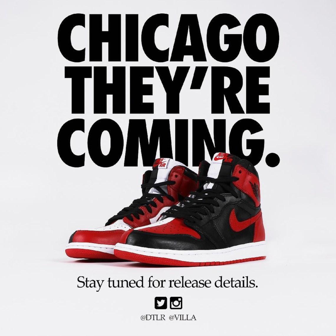 "ae931ff1f4d10b Air Jordan 1 ""Homage To Home"" Drop Nears As Shops Begin Teasing Release"