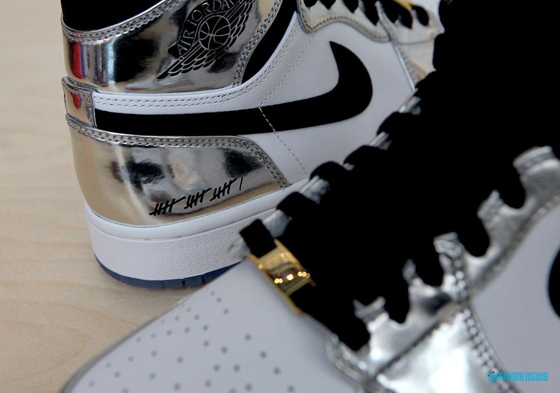 reputable site 56a4d 4c281 Air Jordan 1 Kawhi Leonard Art Of A Champion Silver Black ...
