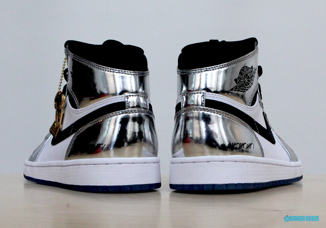 reputable site 2d4db 6fd67 Air Jordan 1 Kawhi Leonard Art Of A Champion Silver Black ...
