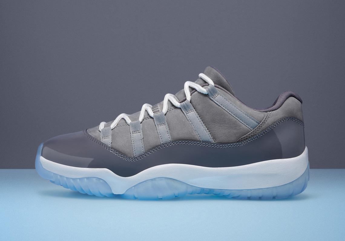 "Official Images Of The Air Jordan 11 Low ""Cool Grey"""