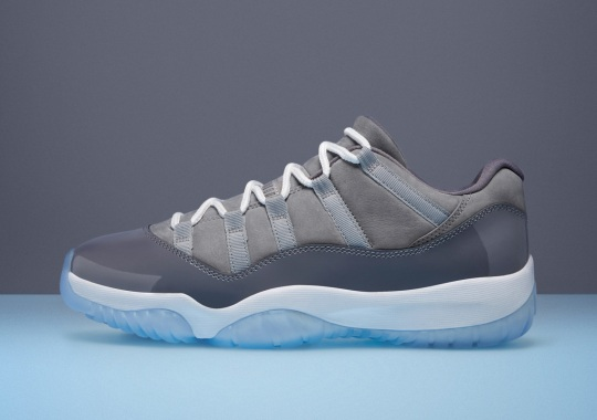"Official Images Of The Air Jordan 11 Low ""Cool Grey"""