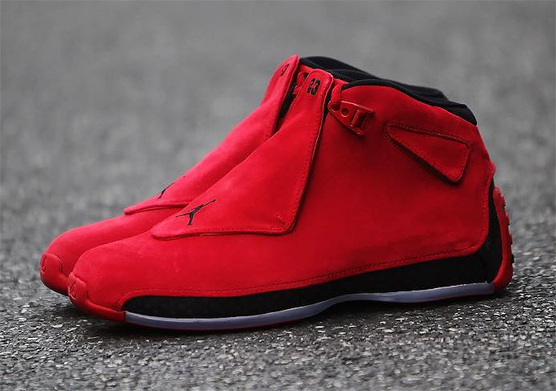 huge discount 1bfe5 d931a Air Jordan 18 Toro Red Suede Where To Buy AA2494-601   SneakerNews.com