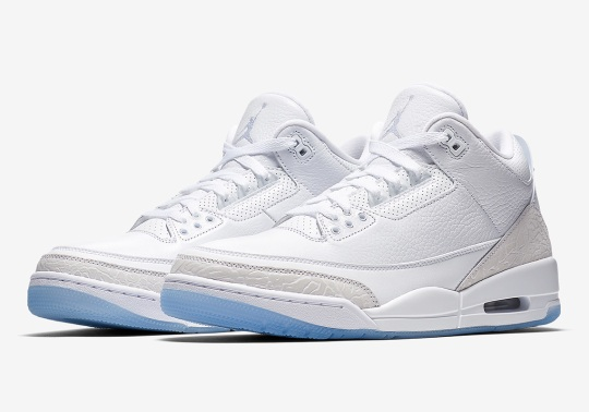 "Official Images Of The Air Jordan 3 ""Pure White"""