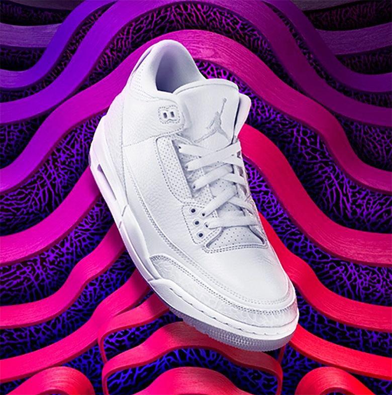 Air Jordan 3 Pure White 136064-111 Release Info ...