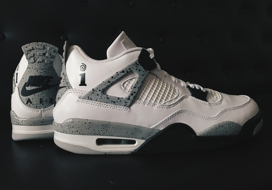 Interscope Records And Jordan Brand Made A White/Cement IV For Friends And Family