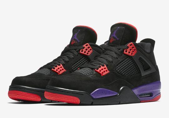 "Drake's Signature Appears On Air Jordan 4 ""Raptors"" Official Images"