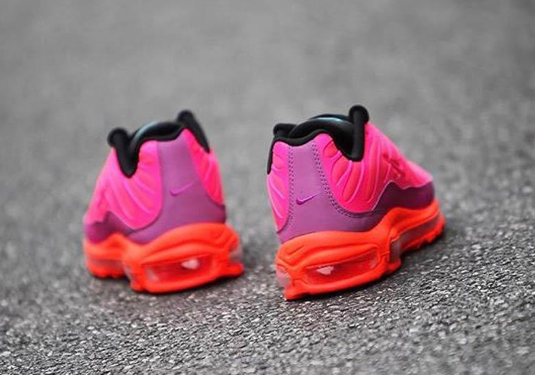 pink orange black air max 97
