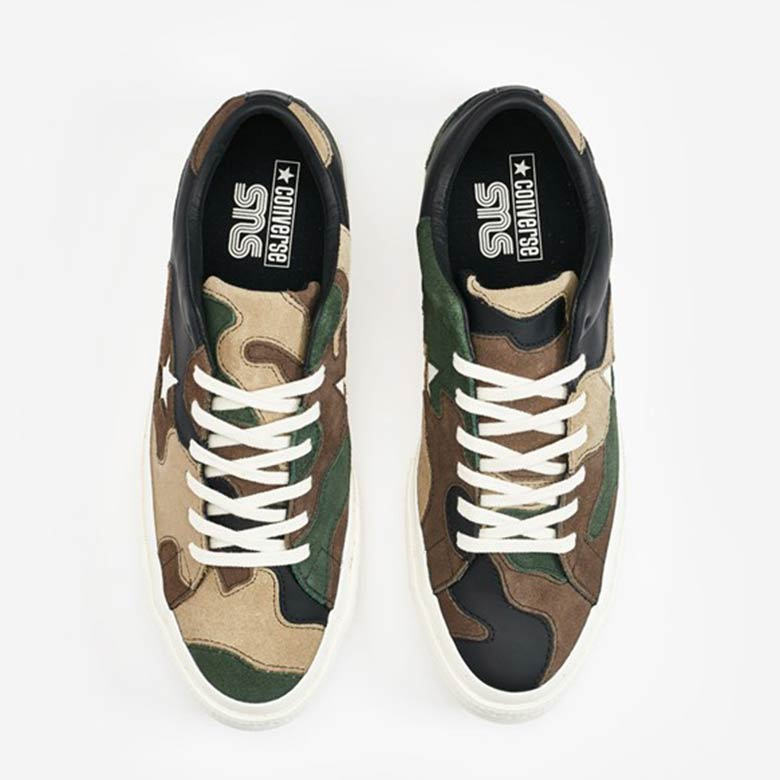 4d3d0fc599e8 Sneakersnstuff Brings Out 1960s Camo For Their Converse One Star ...