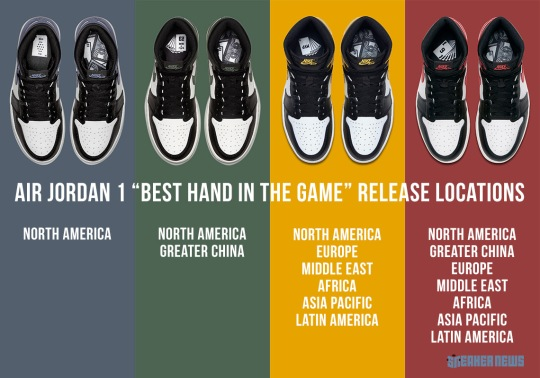 "Official Release Locations For The Air Jordan 1 ""Best Hand In The Game"" Collection"