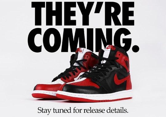 """Air Jordan 1 """"Homage To Home"""" Drop Nears As Shops Begin Teasing Release"""