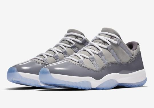 """Where To Buy: Air Jordan 11 Low """"Cool Grey"""""""