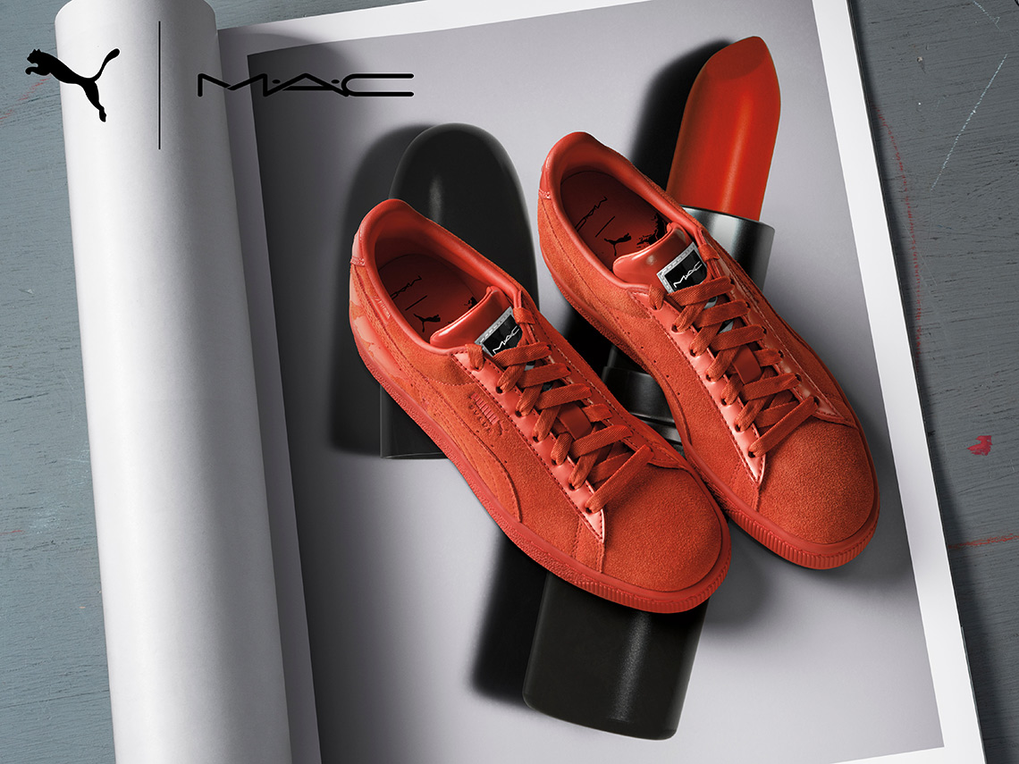 MAC Teams Up With PUMA For Lipstick-Inspired Suedes
