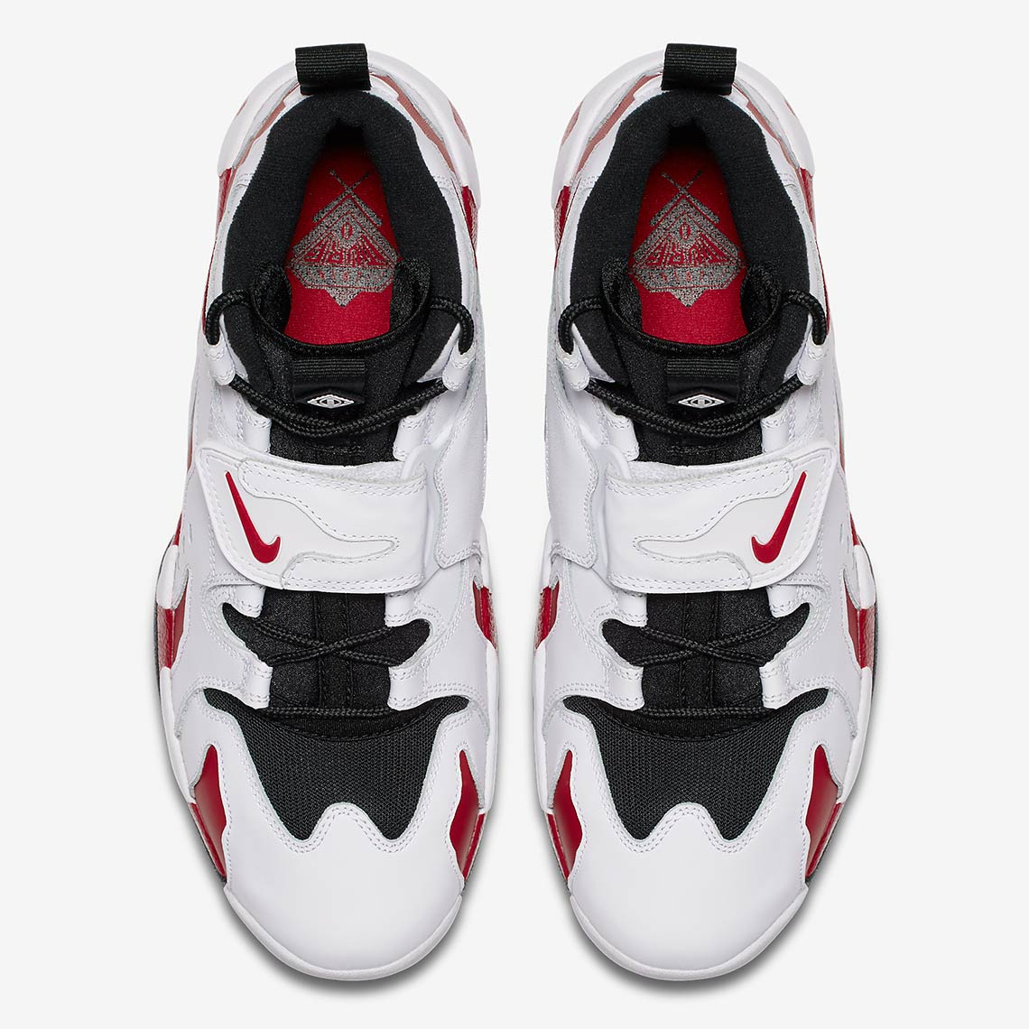 Nike Air DT Max '96. Available now on Nike.com $140. Color: White/Red-Black