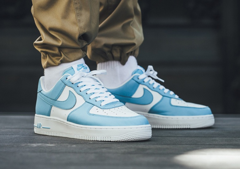 "Nike Offers Classic Color-Blocking With The Air Force 1 Low ""Blue Gale"" 938f54f98"