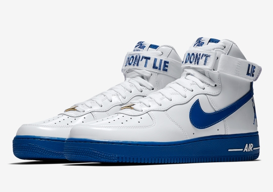 "Rasheed Wallace's Nike Air Force 1 High Features ""Ball Don't Lie"" Message"