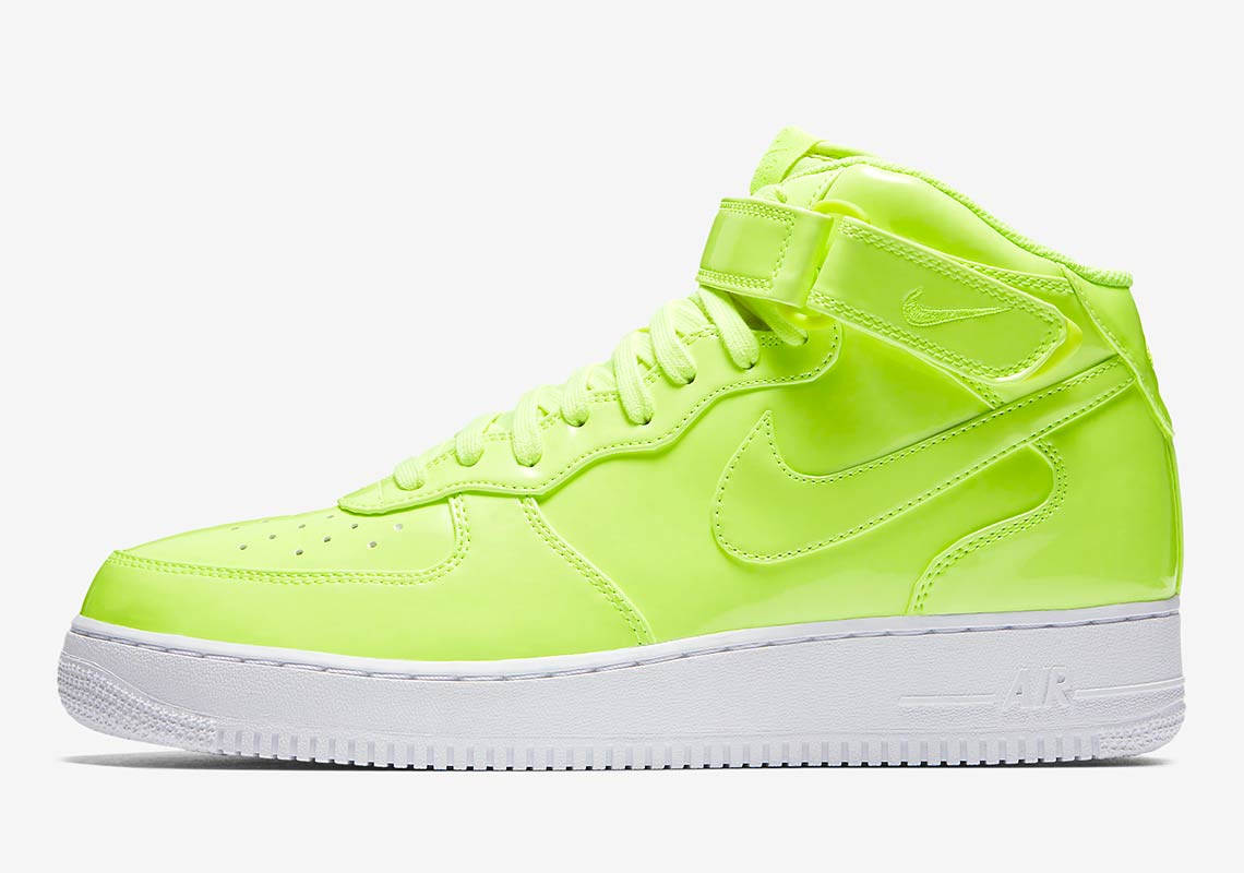best service 90358 d7894 Nike Air Force 1 Mid UV AVAILABLE AT Nike  105. Color  Volt White White Volt  Style Code  AO0702-700