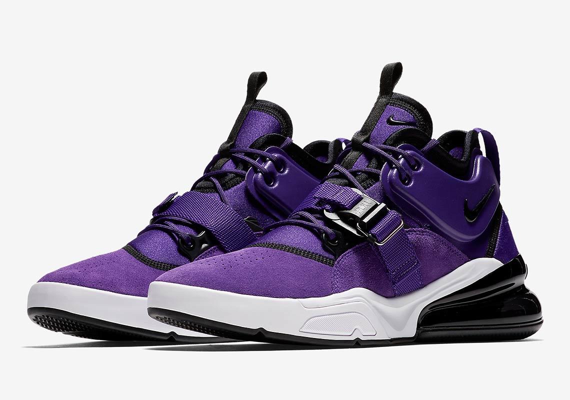 d319fc7a89d Nike Air Force 270 Court Purple Official Images AQ1000-500 ...