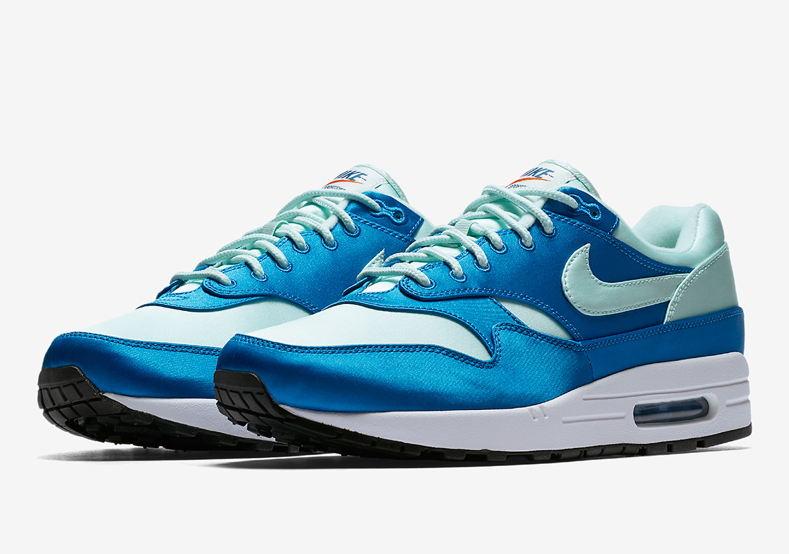 low cost 5c91f 604ad Nike Air Max 1 $120. Color: Blue/Mint/White Style Code: AO1021-400