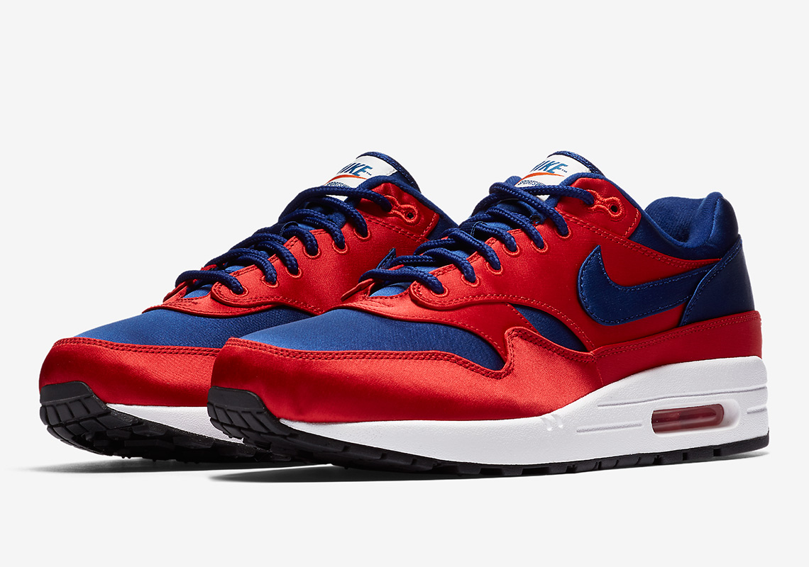 sports shoes 62d04 0b5e7 nike air max 1 red and blue
