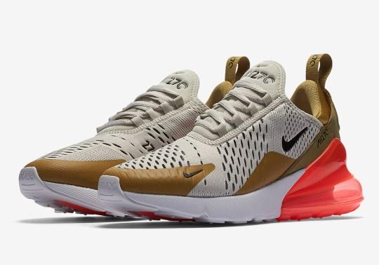 "Nike Air Max 270 ""Flight Gold"" Lands This Thursday"