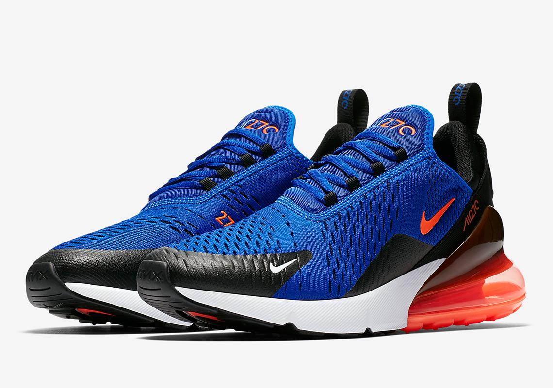 fe12c8d7bd Nike Air Max 270. Release Date: May 3rd, 2018 $150. Color: Racer Blue/Hyper  Crimson-Black-Hyper Crimson-White Style Code: AH8050-401
