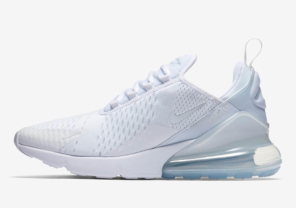 hot sale online 00e73 8cd6f Nike Air Max 270 WMNS Triple White AH6789-102   SneakerNews.com