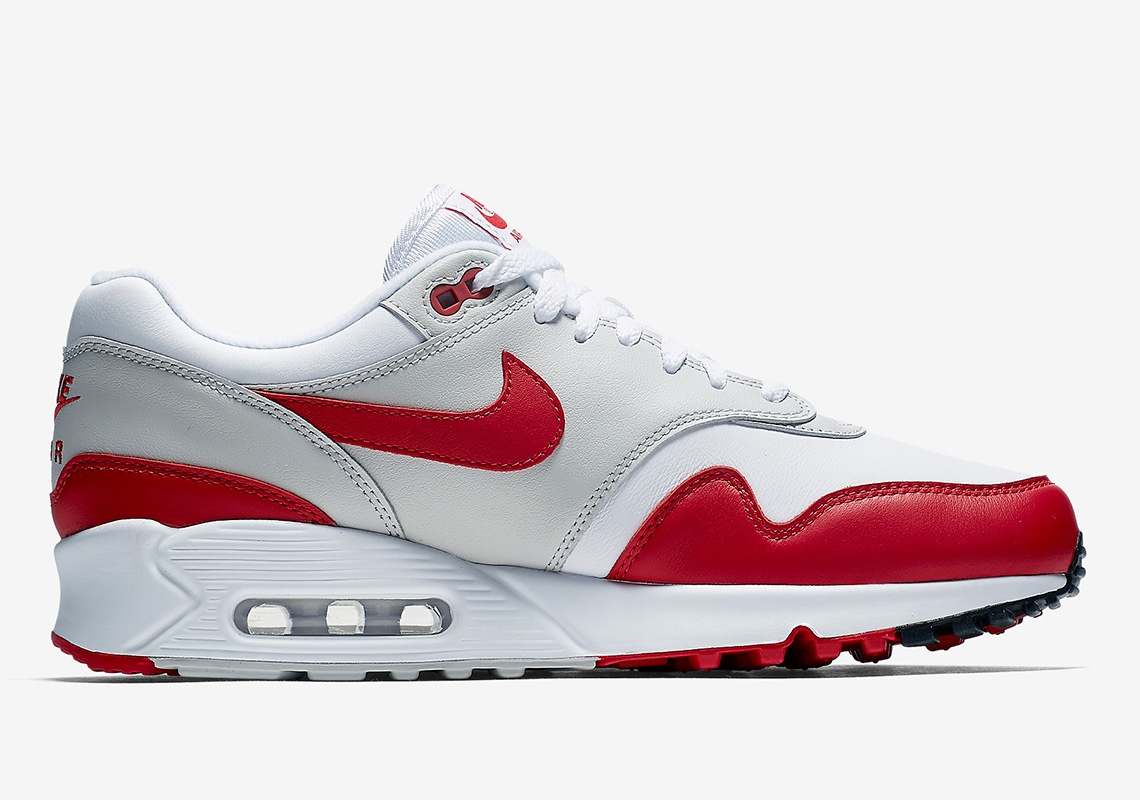 Nike Air Max 90/1. Release Date: April 28, 2018 (Japan) Color:  White/University Red-Neutral Grey-Black