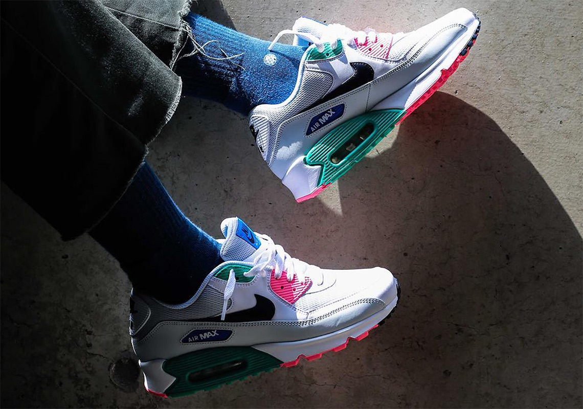 "sale retailer a97ac f1df5 Where to Buy  Nike Air Max 90 ""Summer Sea"""