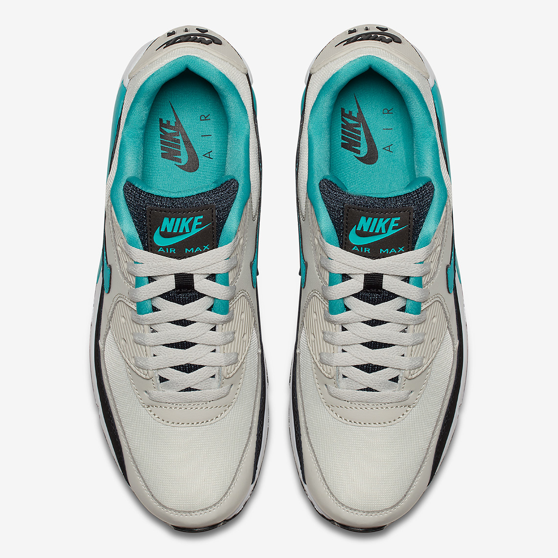 new york c4c41 6be55 Nike Air Max 90 Essential AVAILABLE AT Nike  110. Color  Light Bone Black White Sport  Turquoise Style Code  AJ1285-001. Advertisement. Advertisement