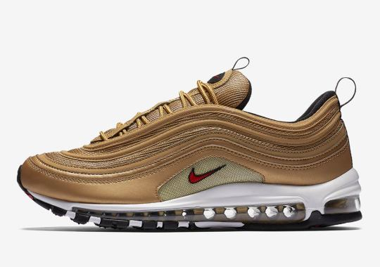 "Nike Air Max 97 OG ""Metallic Gold"" Restocking On May 17th"