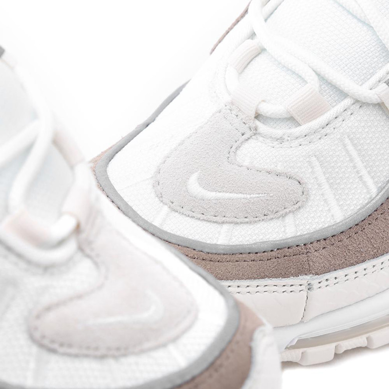 Nike Air Max 98. AVAILABLE AT BSTN €185. Color  Sail Sail-White-Sepia Stone  Style Code  AO9380-100. show comments 640cc30bc