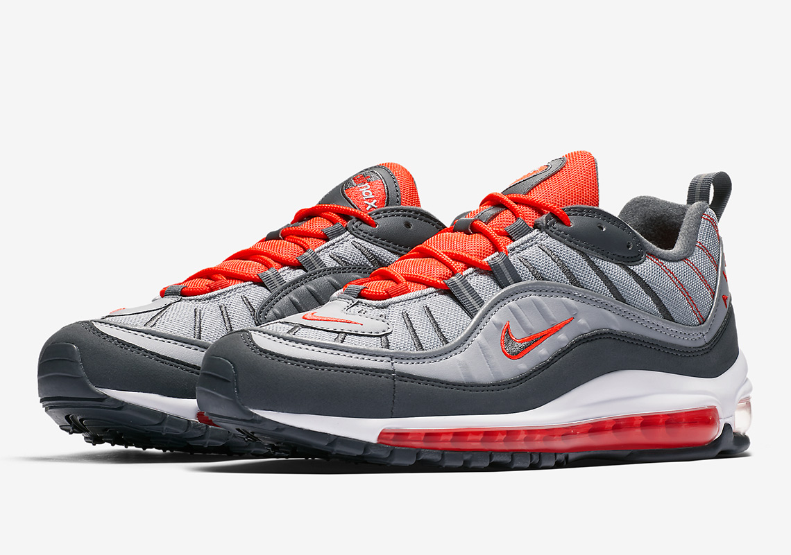 "reputable site c9eb5 f0f0f Official Images Of The Nike Air Max 98 ""Total Crimson"""
