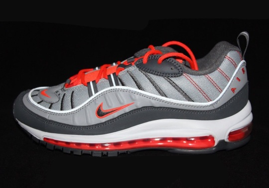 """Nike Air Max 98 """"Total Crimson"""" Set To Release In Mid-April"""