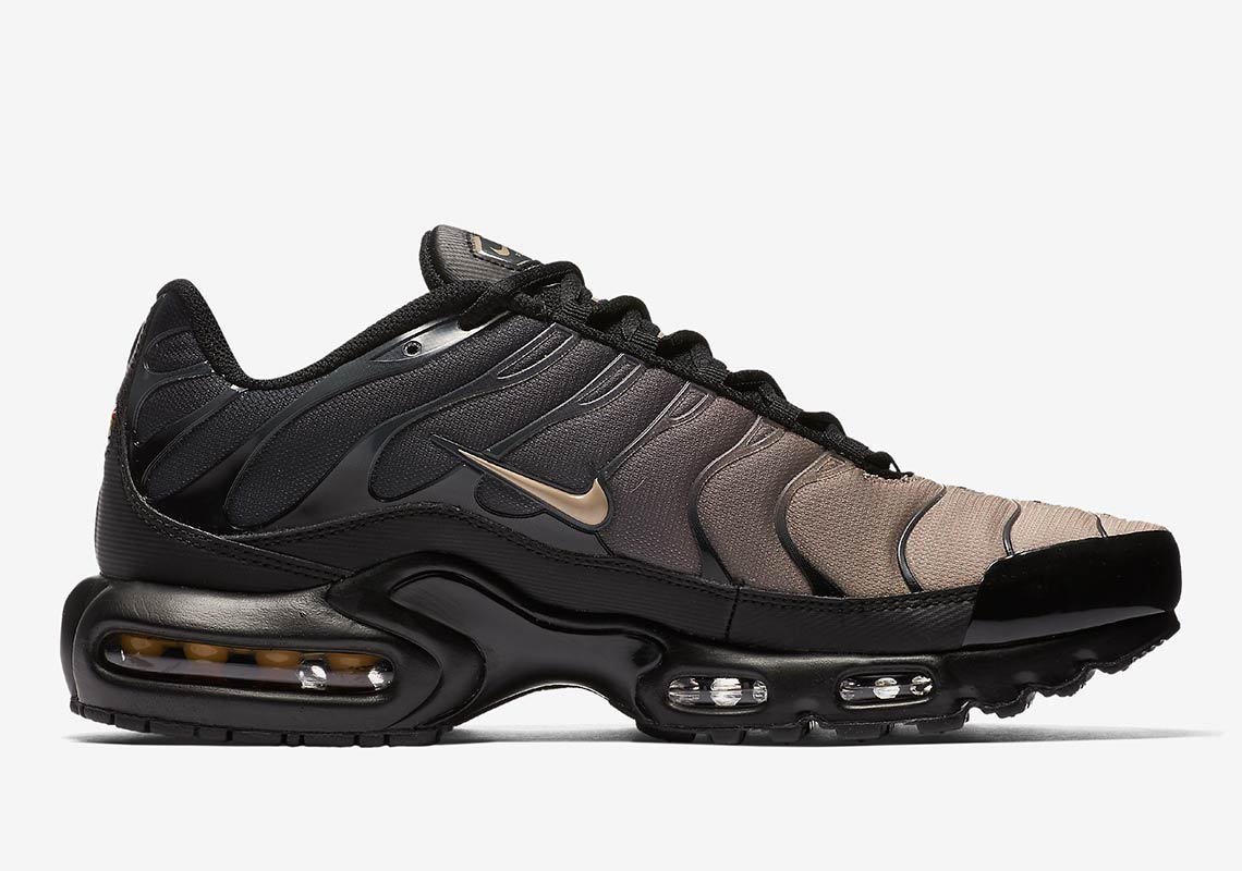 best service 2022f 492d6 Nike Air Max Plus AVAILABLE AT Nike EU £134.95. Color  Black Anthracite Desert  Sand Sand Style Code  852630-026. show comments
